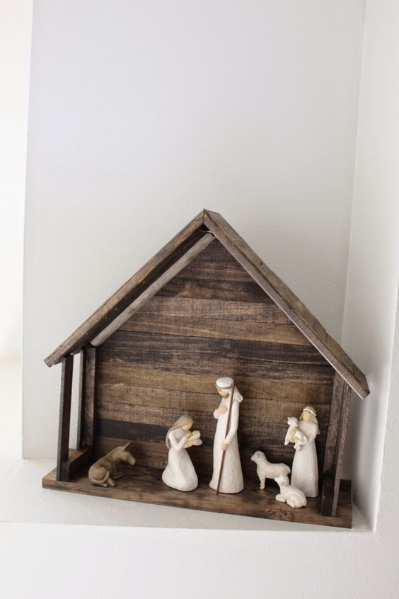 Best ideas about DIY Nativity Stable . Save or Pin Domesticability DIY Nativity Stable for Willow Tree Now.