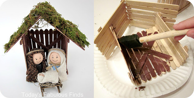 Best ideas about DIY Nativity Stable . Save or Pin Today s Fabulous Finds Craft Stick and Clay Pot Children Now.