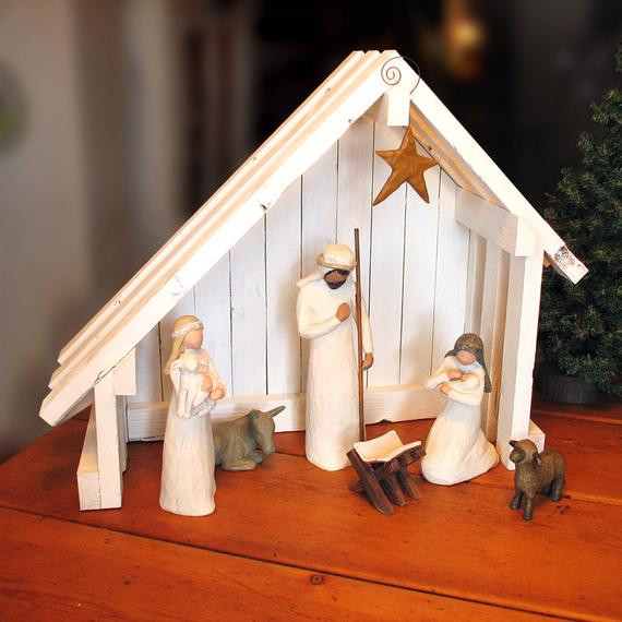 Best ideas about DIY Nativity Stable . Save or Pin Nativity Creche Stable with Slant Roof for Willow Tree Now.