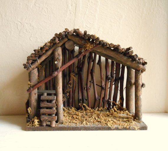 Best ideas about DIY Nativity Stable . Save or Pin Vintage Wood Manger for Christmas Nativity Scene Empty Now.