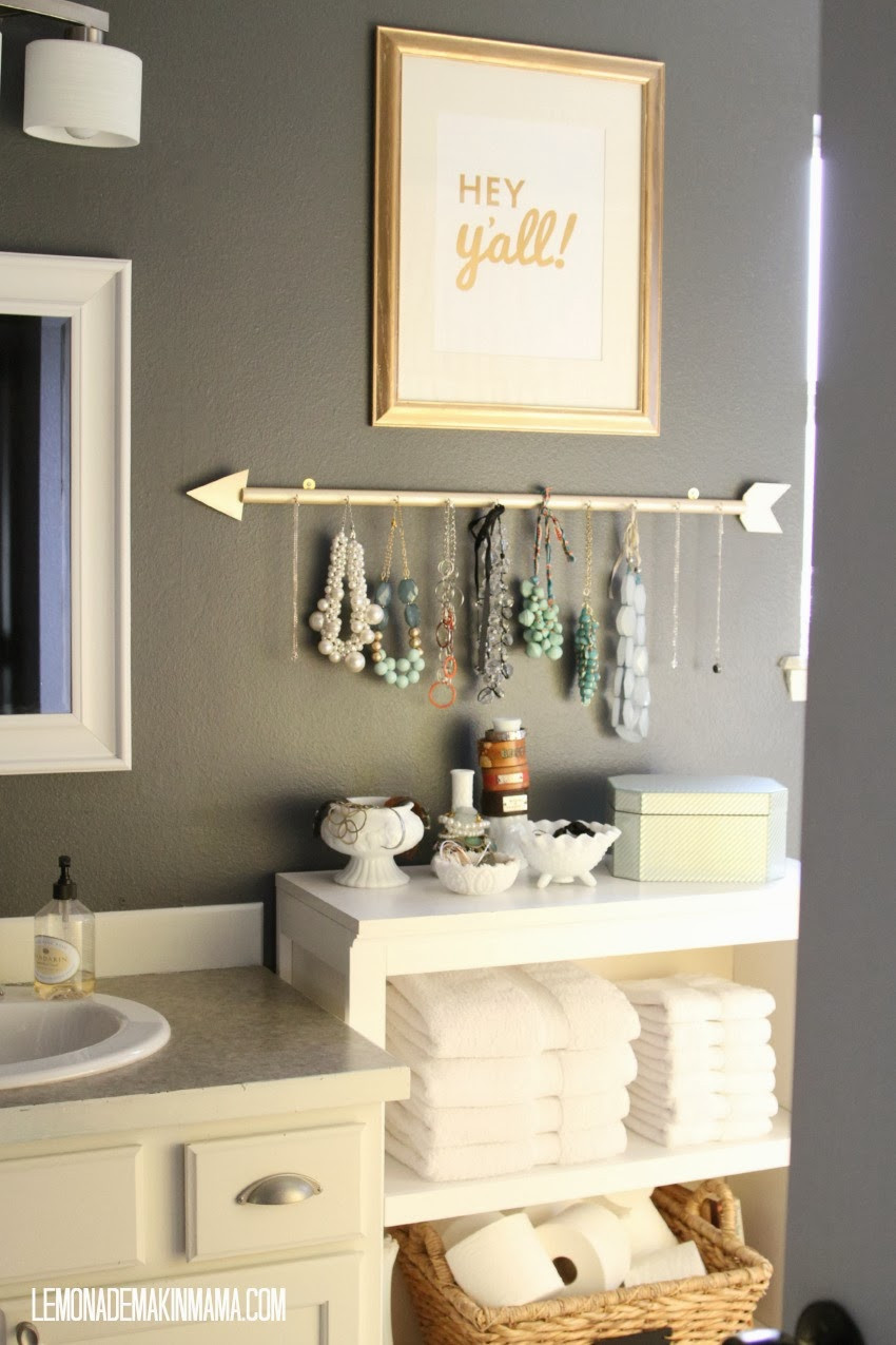 Best ideas about DIY Necklace Holder . Save or Pin Lemonade Makin Mama The arrow jewelry holder DIY Now.