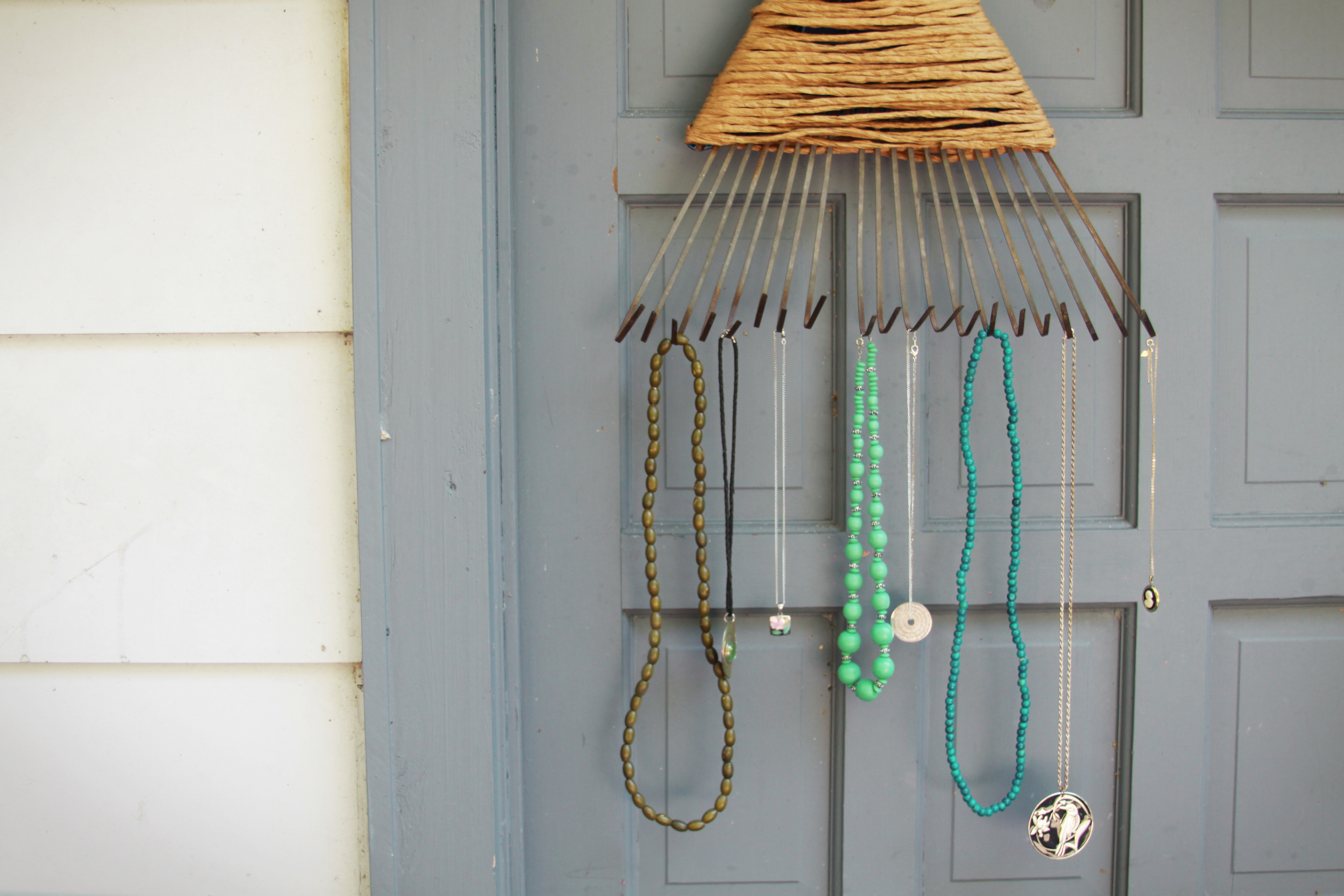 Best ideas about DIY Necklace Holder . Save or Pin DIY Rake Necklace Holder Now.