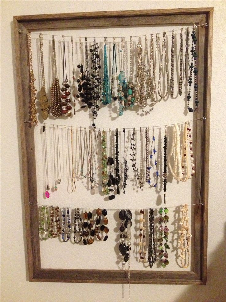 Best ideas about DIY Necklace Holder . Save or Pin 54 Necklaces Holder Necklace Stand Black Revolving Wire Now.