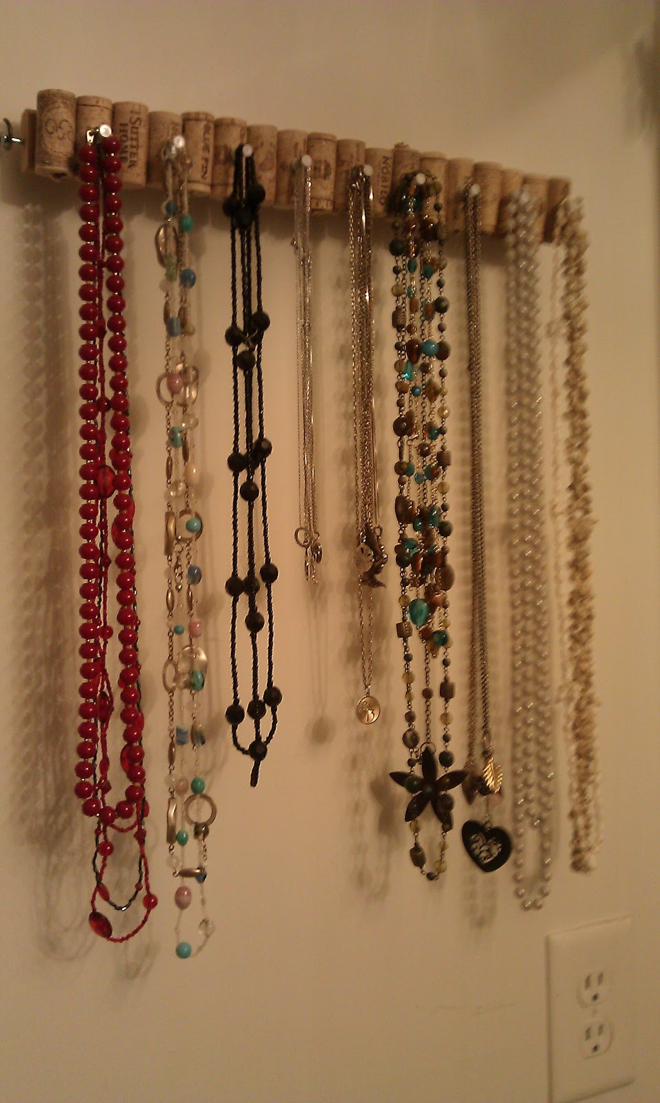 Best ideas about DIY Necklace Organizer . Save or Pin The Wannabe Hippie DIY Necklace holder Now.