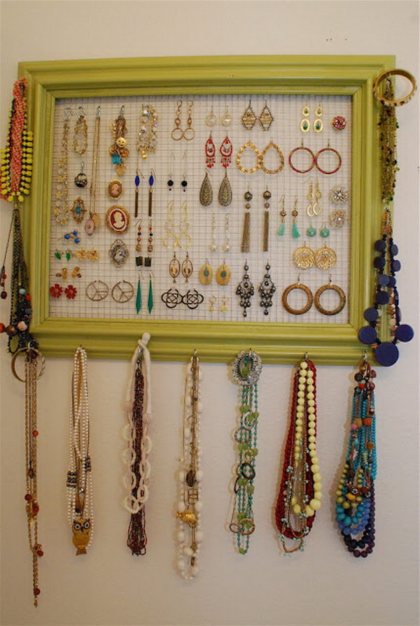 Best ideas about DIY Necklace Organizer . Save or Pin 25 DIY Ideas & Tutorials for Teenage Girl s Room Now.