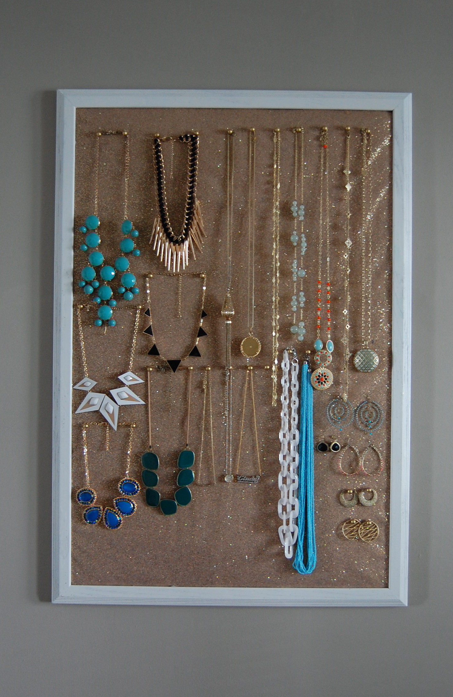 Best ideas about DIY Necklace Organizer . Save or Pin DIY Jewelry Holder Now.