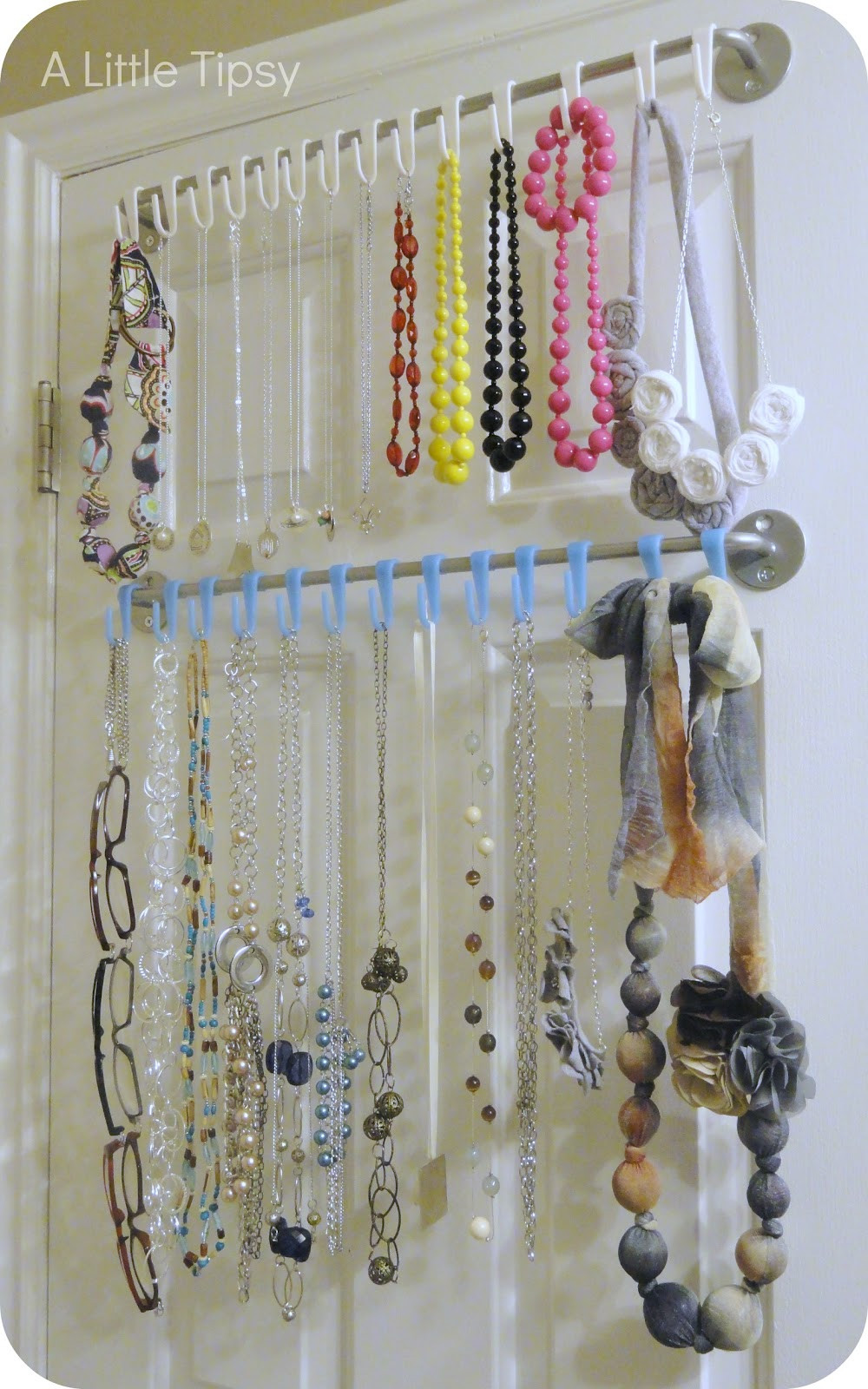 Best ideas about DIY Necklace Organizer . Save or Pin DIY Jewelry Organizer A Little Tipsy Now.
