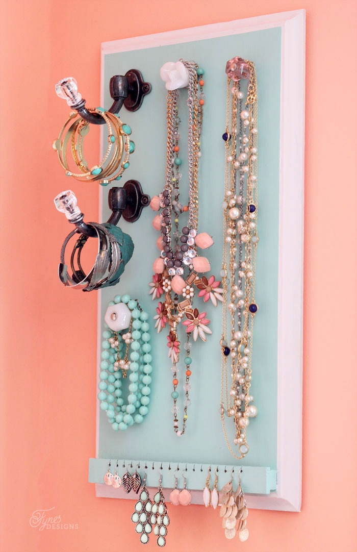 Best ideas about DIY Necklace Organizer . Save or Pin DIY Jewelry Organizer FYNES DESIGNS Now.