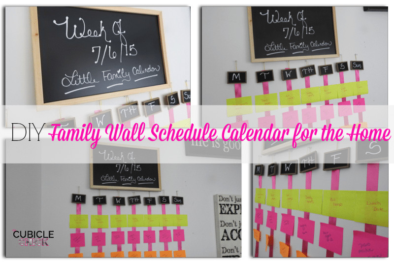 Best ideas about DIY Network Schedule . Save or Pin DIY Family Wall Schedule Calendar for the Home Social Now.