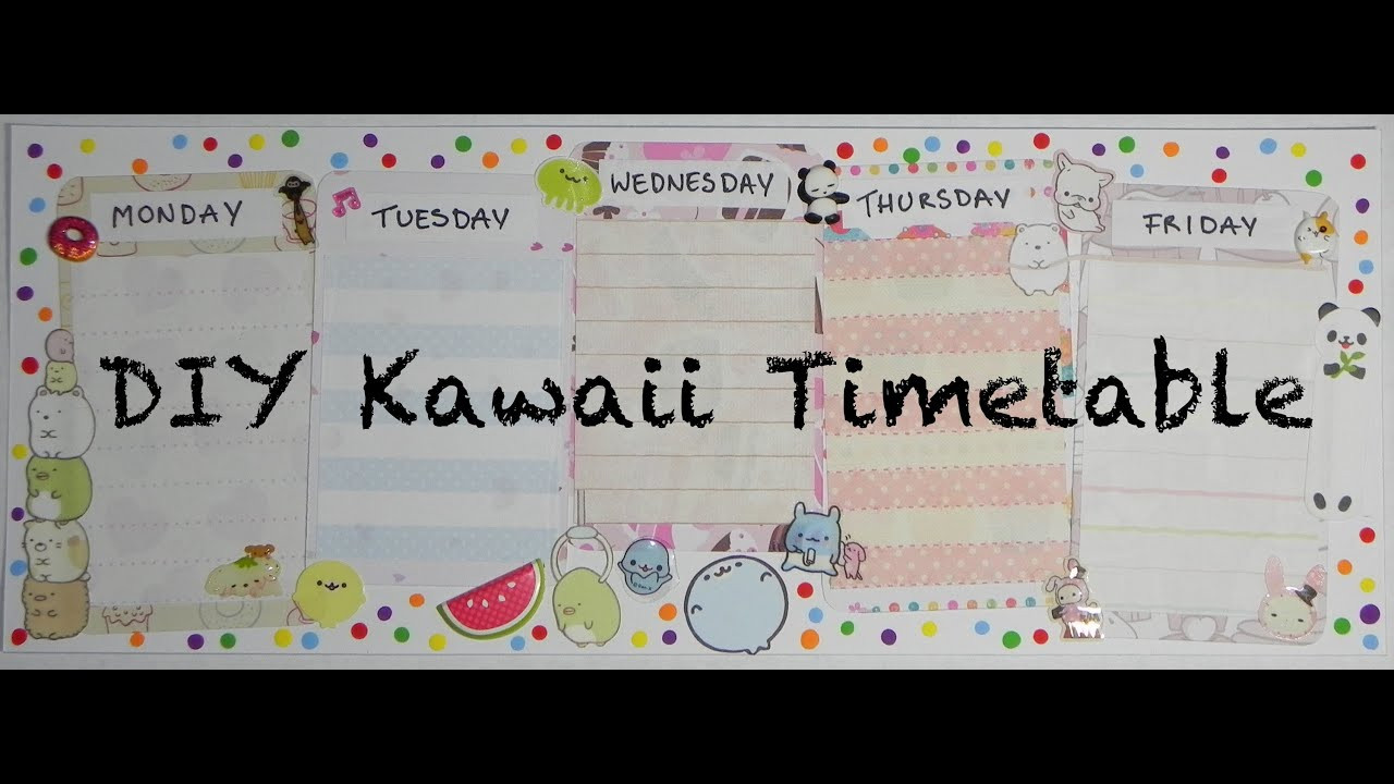 Best ideas about DIY Network Schedule . Save or Pin DIY Kawaii Timetable Now.