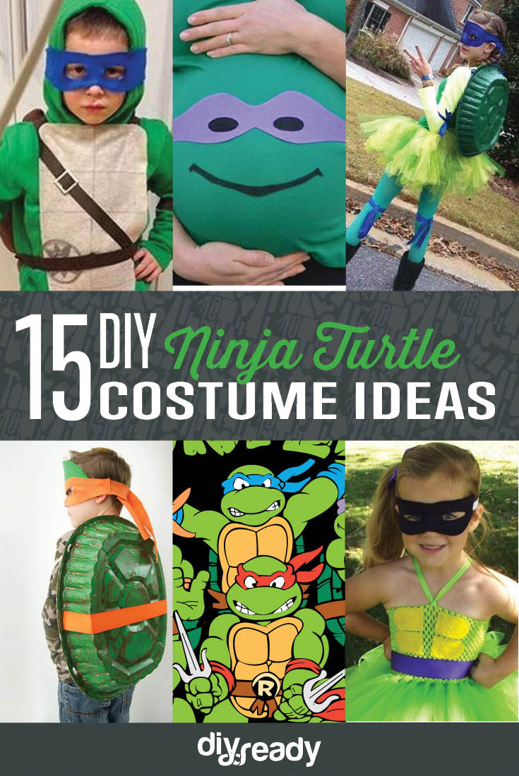 Best ideas about DIY Ninja Turtle Costume . Save or Pin 15 DIY Ninja Turtle Costume Ideas Cowabunga DIY Ready Now.