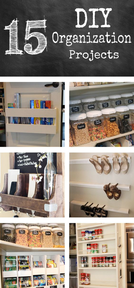 Best ideas about DIY Organization Projects . Save or Pin 15 DIY Organization Projects These are cheap and easy Now.