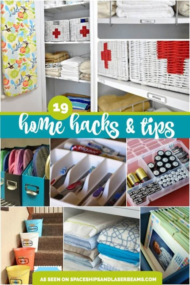 Best ideas about DIY Organizing Hacks . Save or Pin 19 Amazing Home Organization Tips and Hacks Spaceships Now.