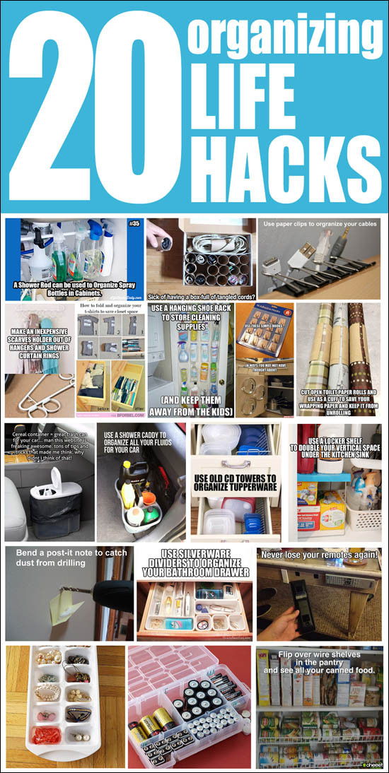 Best ideas about DIY Organizing Hacks . Save or Pin 20 Organizing Life Hacks How to Nest for Less™ Now.