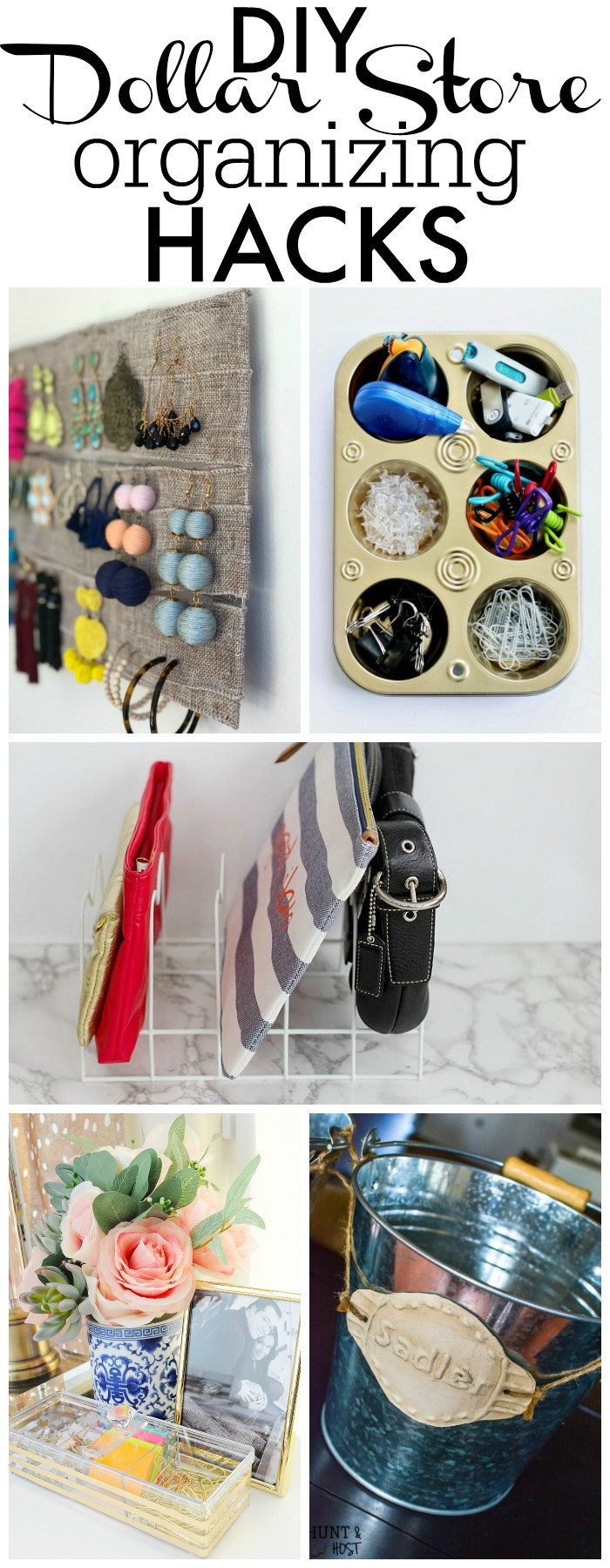 Best ideas about DIY Organizing Hacks . Save or Pin Dollar Store DIY Gold & Acrylic Organizers Now.