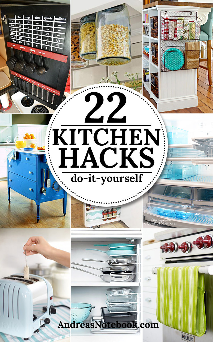 Best ideas about DIY Organizing Hacks . Save or Pin 22 Kitchen Hacks and Tips Now.