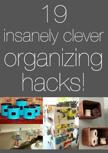 Best ideas about DIY Organizing Hacks . Save or Pin 19 Insanely Clever Organizing Hacks Now.