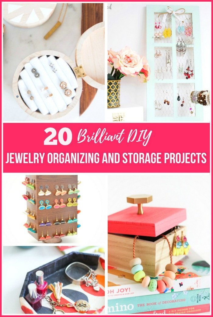 Best ideas about DIY Organizing Projects . Save or Pin 20 Brilliant DIY Jewelry Organizing Projects Now.