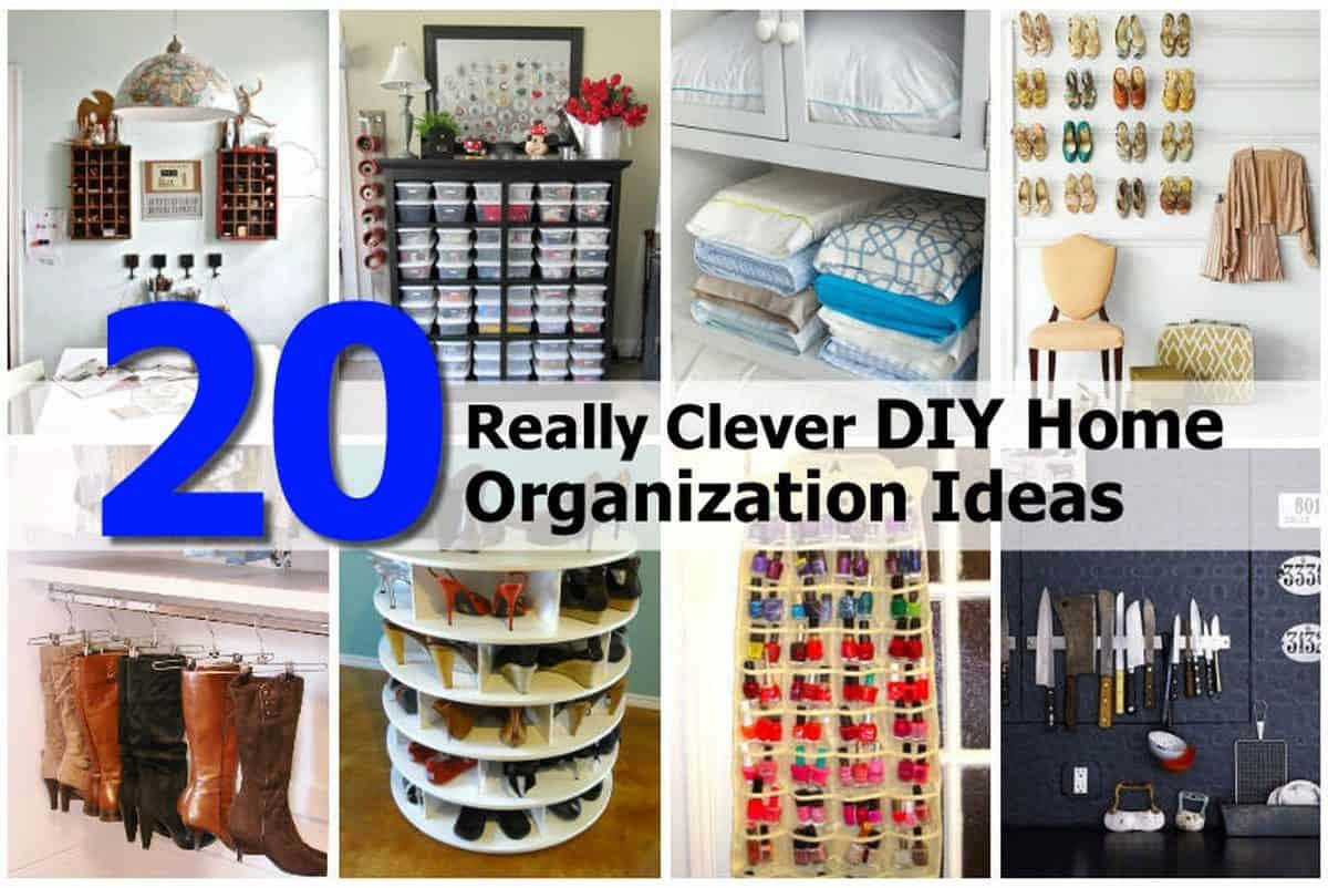 Best ideas about DIY Organizing Projects . Save or Pin 20 Really Clever DIY Home Organization Ideas Now.