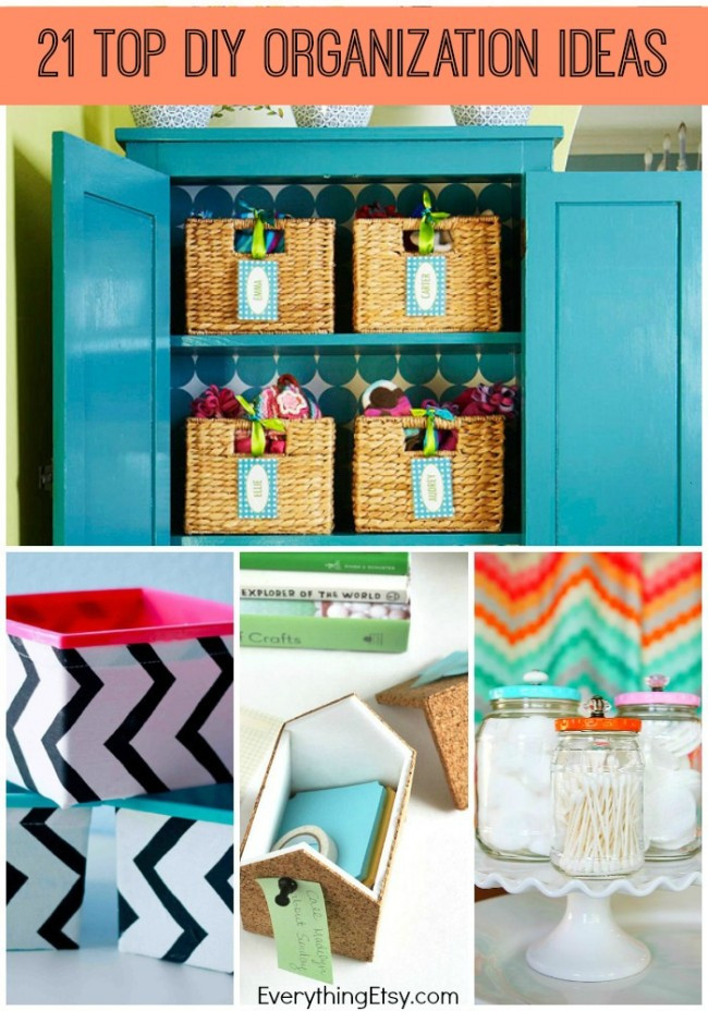 Best ideas about DIY Organizing Projects . Save or Pin 21 Top DIY Home Organization Ideas EverythingEtsy Now.