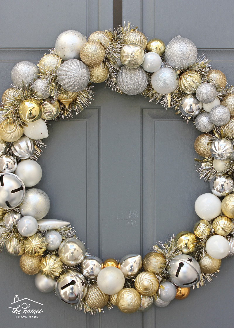 Best ideas about DIY Ornament Wreath . Save or Pin Quick and Easy DIY Ornament Wreath Now.