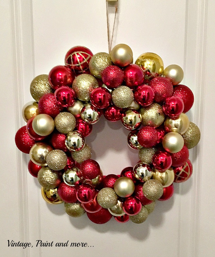 Best ideas about DIY Ornament Wreath . Save or Pin DIY Ornament Wreath Now.