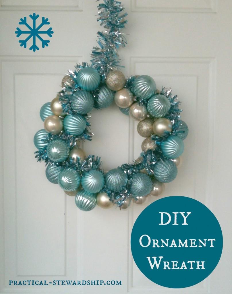 Best ideas about DIY Ornament Wreath . Save or Pin DIY Ornament Wreath Tutorial Practical Stewardship Now.