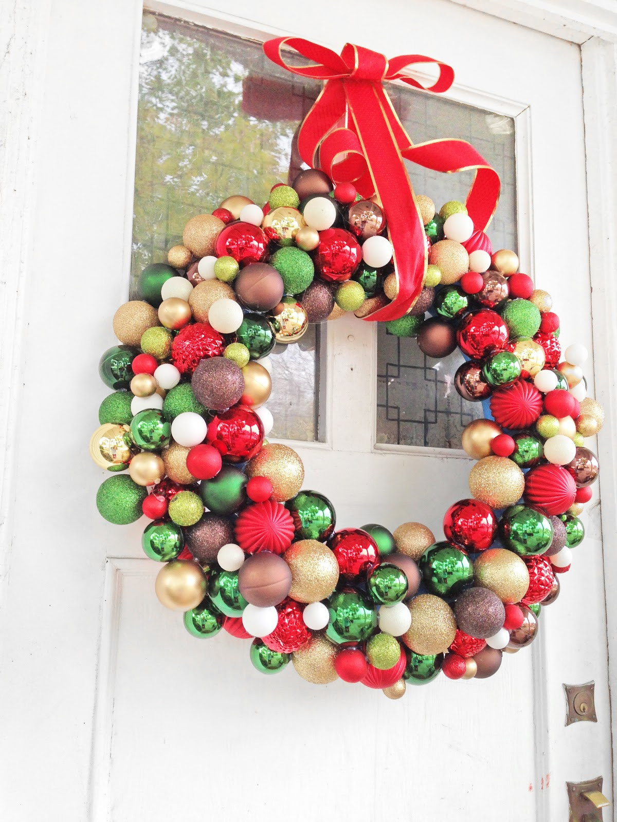 "Best ideas about DIY Ornament Wreath . Save or Pin Grosgrain DIY 30"" Pool Noodle Ornament Wreath Now."