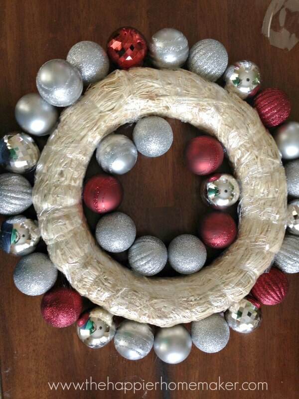 Best ideas about DIY Ornament Wreath . Save or Pin How to Make an Easy DIY Ornament Wreath Now.