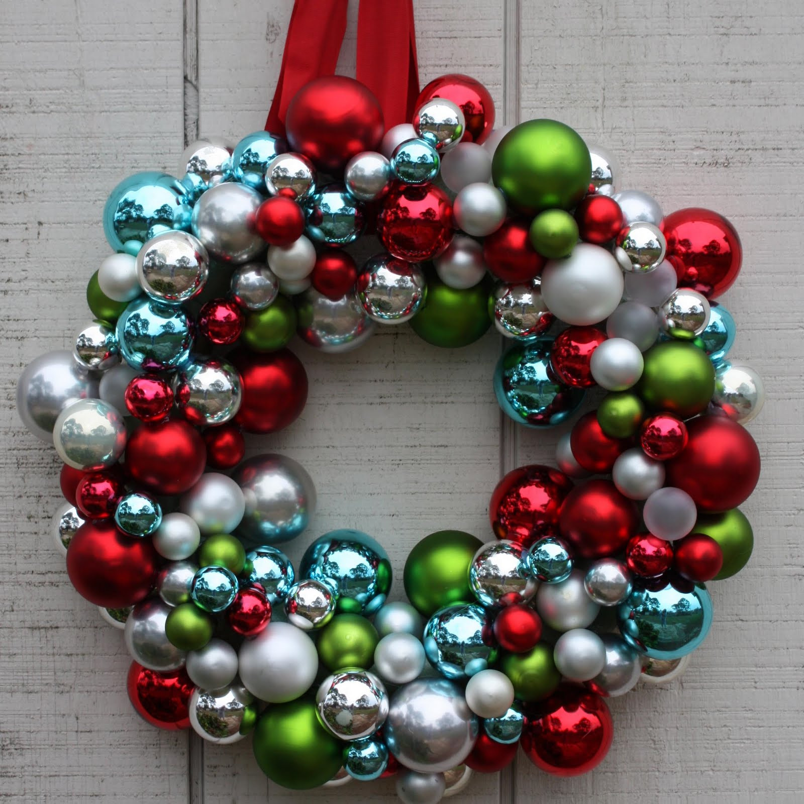 Best ideas about DIY Ornament Wreath . Save or Pin Christmas Ornament Wreath Now.