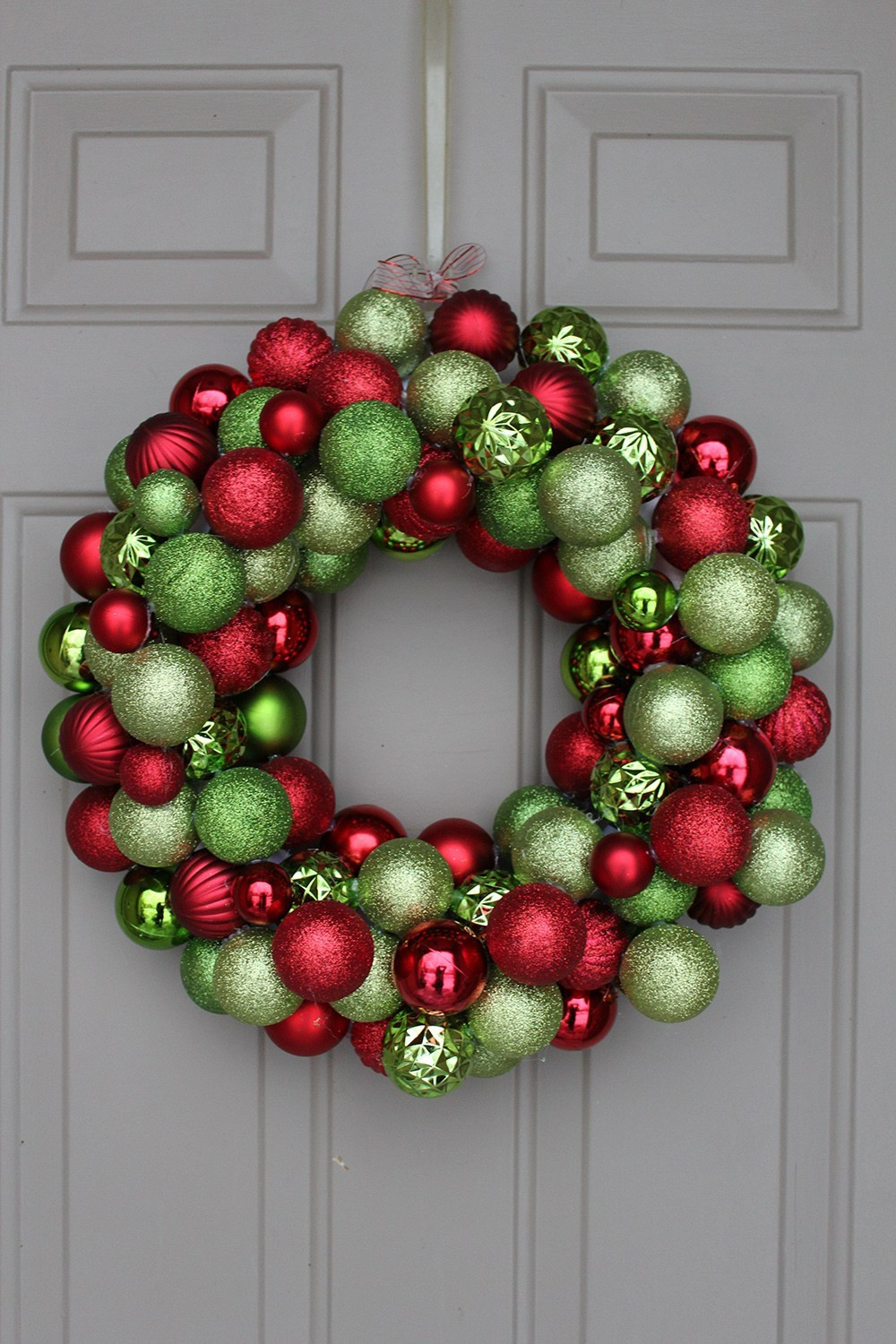 Best ideas about DIY Ornament Wreath . Save or Pin DIY Ornament Wreath under $30 Now.