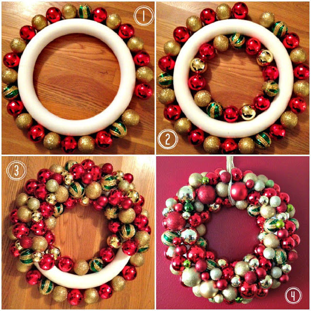 Best ideas about DIY Ornament Wreath . Save or Pin Easy DIY Ornament Wreath For Christmas s Now.