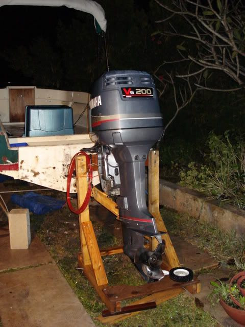 Best ideas about DIY Outboard Motor Stand . Save or Pin DIY outboard stand The Hull Truth Boating and Now.