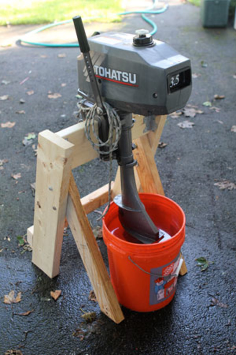Best ideas about DIY Outboard Motor Stand . Save or Pin A Stand for Tired Outboards Sail Magazine Now.