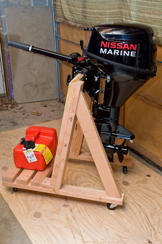 Best ideas about DIY Outboard Motor Stand . Save or Pin Build your own portable outboard motor stand Now.