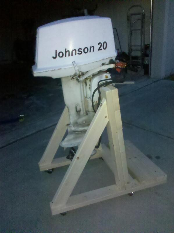 Best ideas about DIY Outboard Motor Stand . Save or Pin Homemade Outboard Stand $47 76 Now.