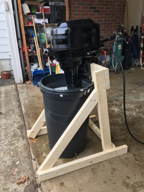 Best ideas about DIY Outboard Motor Stand . Save or Pin DIY Outboard Stand w Page 1 iboats Boating Now.