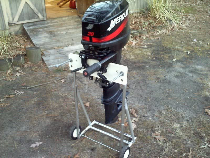 Best ideas about DIY Outboard Motor Stand . Save or Pin Homemade outboard stand Now.