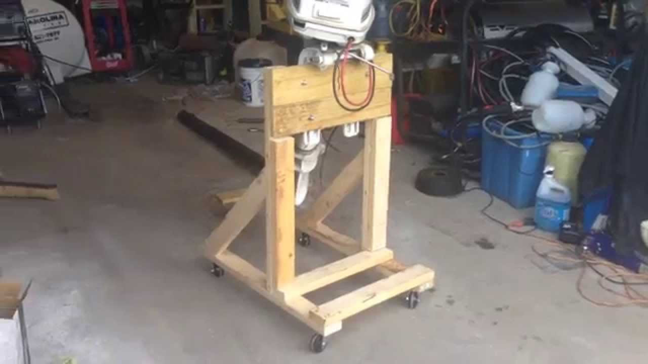 Best ideas about DIY Outboard Motor Stand . Save or Pin How To Build a Boat Outboard Engine Stand DIY Cart Now.