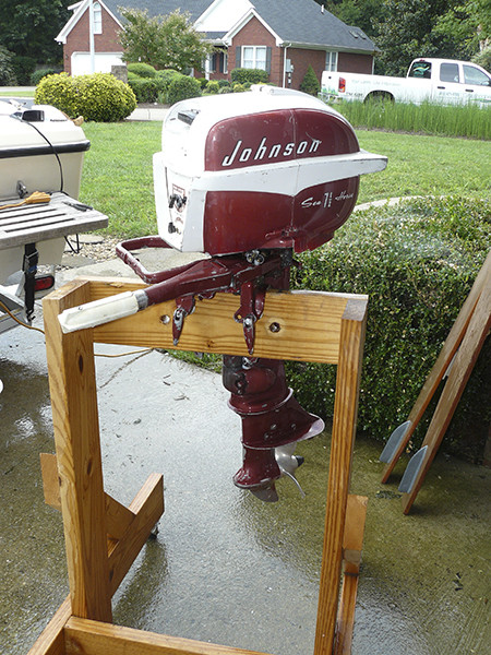 Best ideas about DIY Outboard Motor Stand . Save or Pin DIY Outboard Stand w Page 2 iboats Boating Now.
