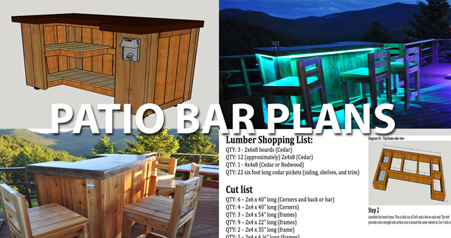 Best ideas about DIY Outdoor Bar Plans . Save or Pin Cedar Patio Bar and Concrete Top Plans Now.