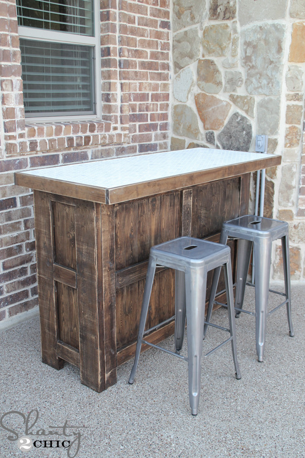 Best ideas about DIY Outdoor Bar Plans . Save or Pin DIY Tiled Bar Free Plans and a Giveaway Shanty 2 Chic Now.