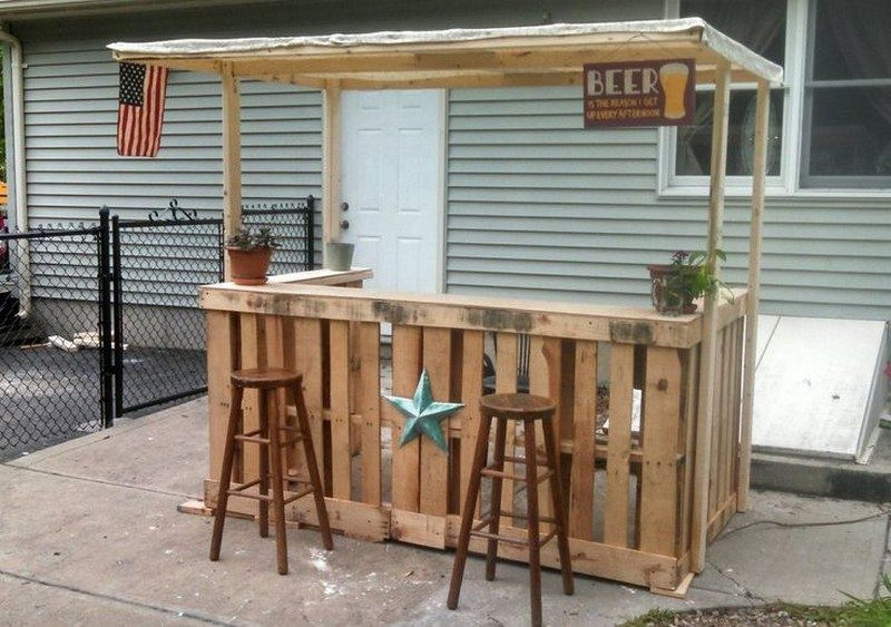 Best ideas about DIY Outdoor Bar Plans . Save or Pin DIY Pallet Outdoor Bar and Stools – The Owner Builder Network Now.