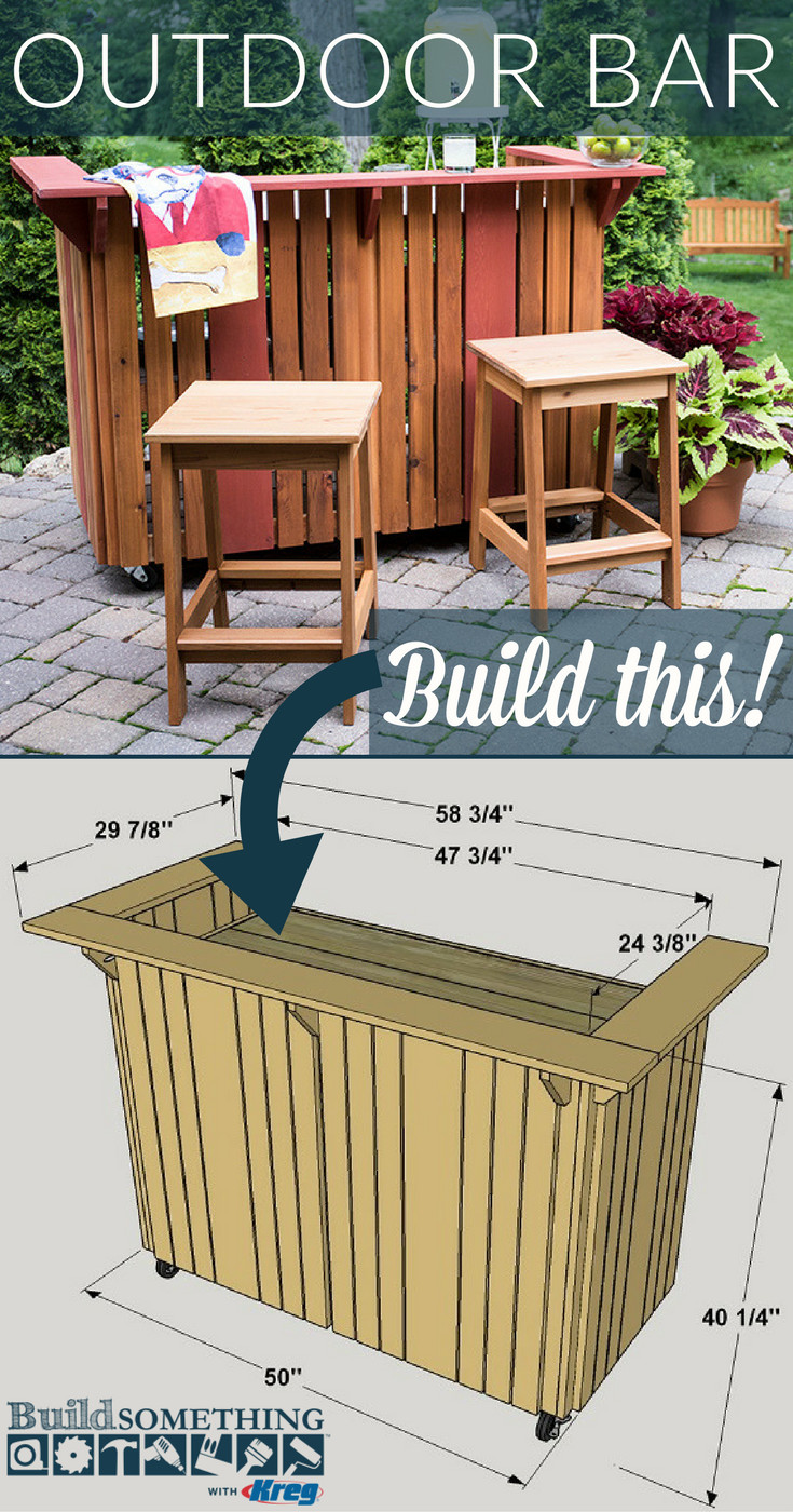 Best ideas about DIY Outdoor Bar Plans . Save or Pin DIY Outdoor Bar Now.