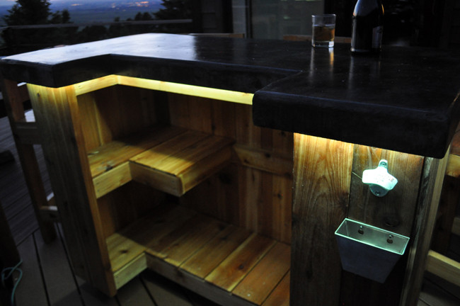 Best ideas about DIY Outdoor Bar Plans . Save or Pin Patio Bar Plans Concrete Counter and Cedar Base Now.
