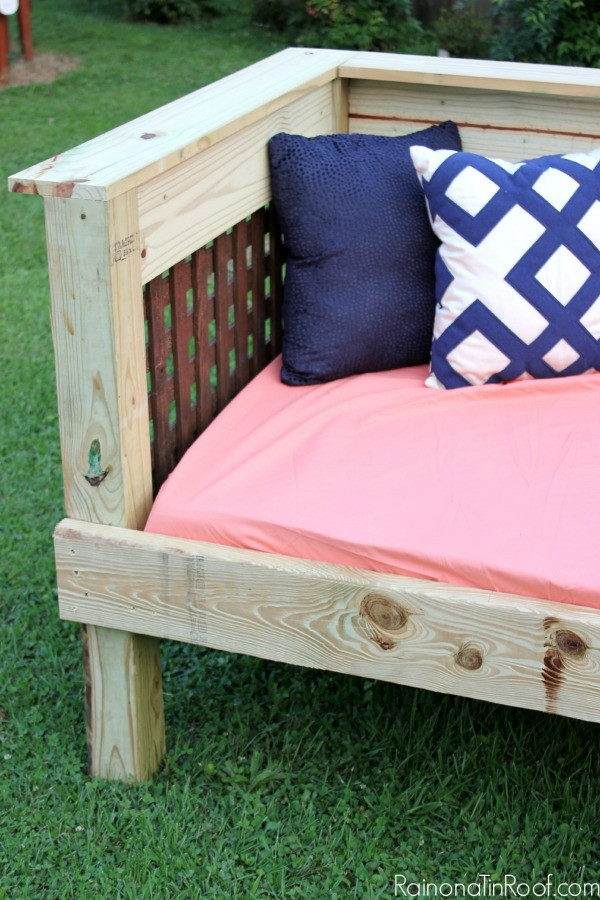Best ideas about DIY Outdoor Bed . Save or Pin DIY Outdoor Daybed Now.