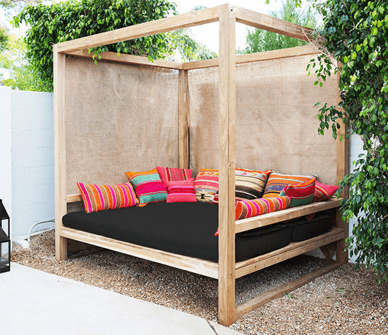 Best ideas about DIY Outdoor Bed . Save or Pin 25 Money Saving DIY Backyard Projects transform your Now.
