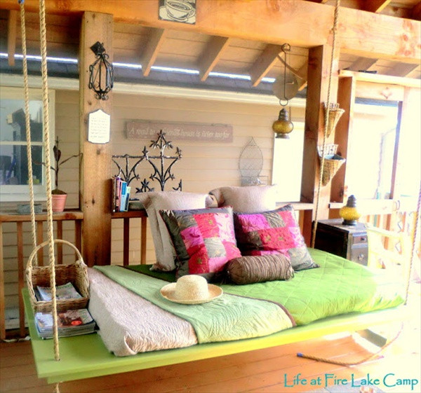 Best ideas about DIY Outdoor Bed . Save or Pin DIY Pallet Swing Plans Chair Bed & Bench Now.