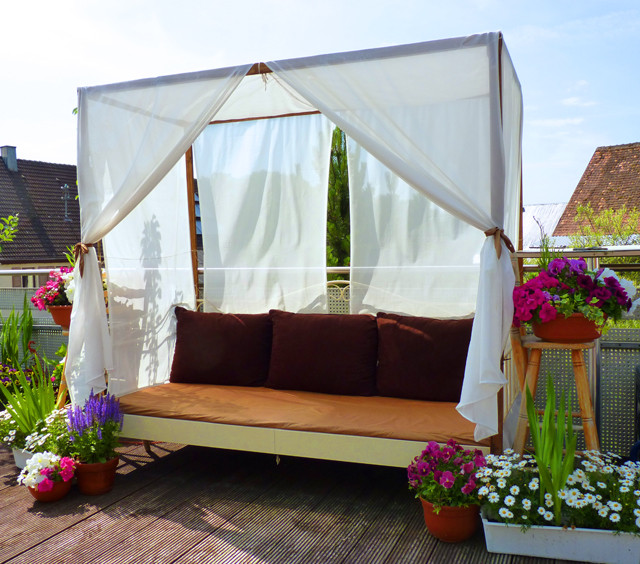 Best ideas about DIY Outdoor Bed . Save or Pin DIY Canopy Bed outdoor Now.