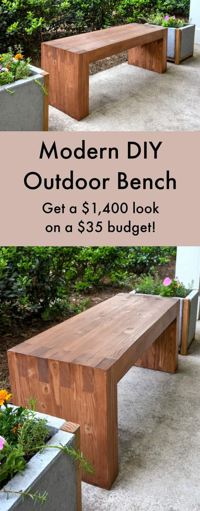 Best ideas about DIY Outdoor Benches . Save or Pin Williams Sonoma inspired DIY outdoor bench diycandy Now.